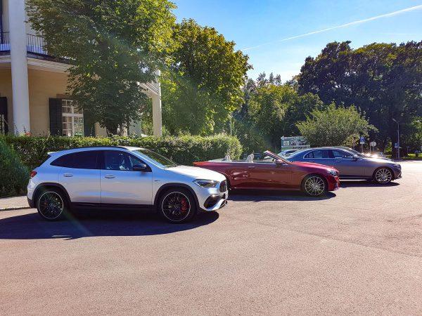 Mercedes E-Klasse und AMG GLA